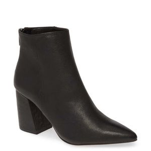 NEW 10 Vince Camuto Benedie Black Leather Bootie